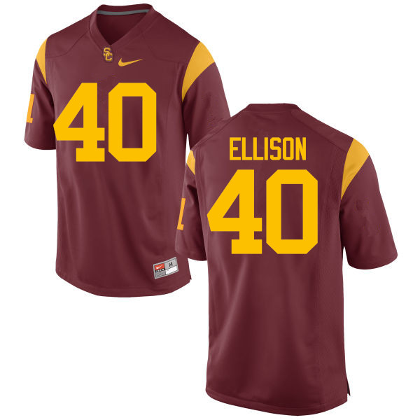 Men #40 Rhett Ellison USC Trojans College Football Jerseys-Red