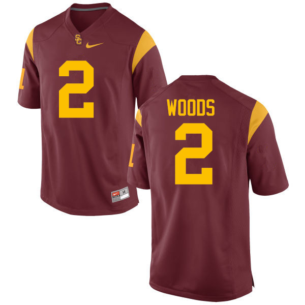 Men #2 Robert Woods USC Trojans College Football Jerseys-Red