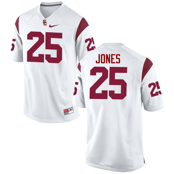 Men #25 Ronald Jones II USC Trojans College Football Jerseys-White
