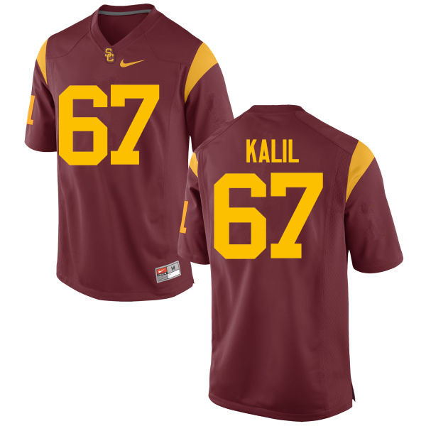 Men #67 Ryan Kalil USC Trojans College Football Jerseys-Red