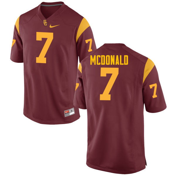 Men #7 T.J. McDonald USC Trojans College Football Jerseys-Red