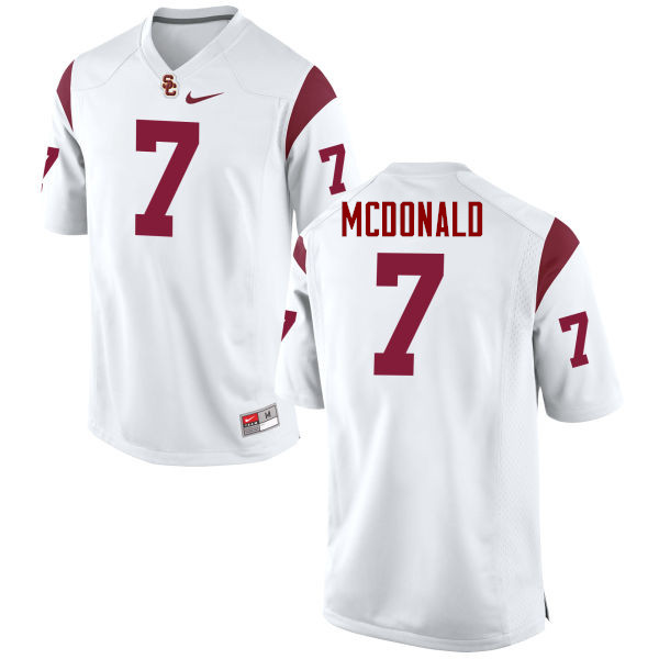 Men #7 T.J. McDonald USC Trojans College Football Jerseys-White