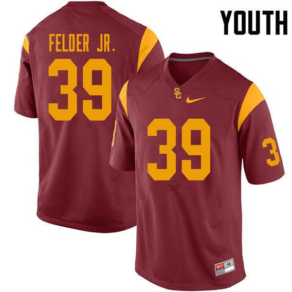 Youth #39 Howard Felder Jr. USC Trojans College Football Jerseys Sale-Cardinal