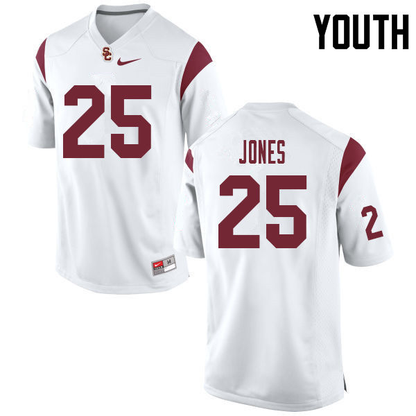 Youth #25 Jack Jones USC Trojans College Football Jerseys Sale-White