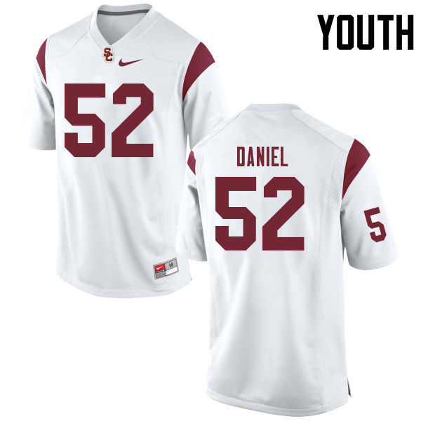 Youth #52 Jacob Daniel USC Trojans College Football Jerseys Sale-White