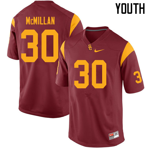 Youth #30 Jordan McMillan USC Trojans College Football Jerseys Sale-Cardinal