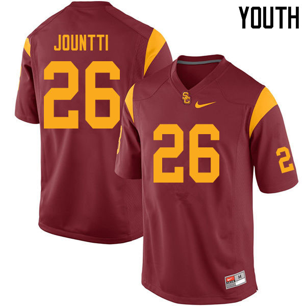 Youth #26 Quincy Jountti USC Trojans College Football Jerseys Sale-Cardinal