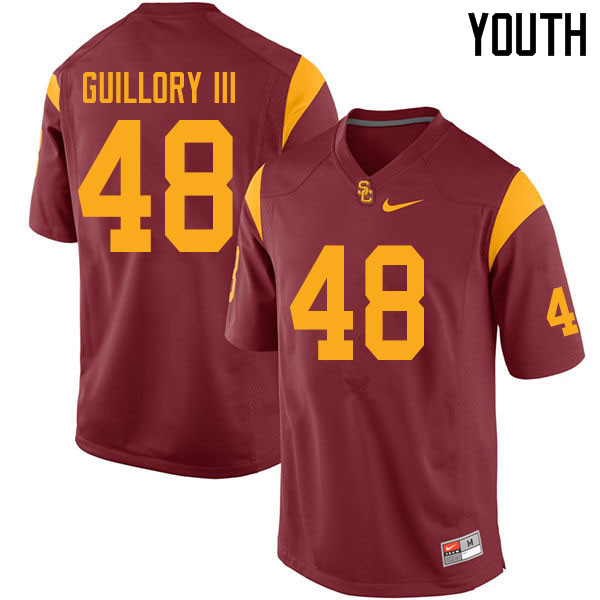 Youth #48 Winston Guillory III USC Trojans College Football Jerseys Sale-Cardinal