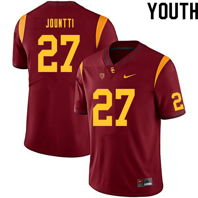 Youth #27 Quincy Jountti USC Trojans College Football Jerseys Sale-Cardinal