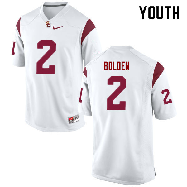 Youth #2 Bubba Bolden USC Trojans College Football Jerseys Sale-White