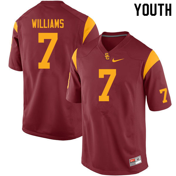 Youth #7 Chase Williams USC Trojans College Football Jerseys Sale-Cardinal