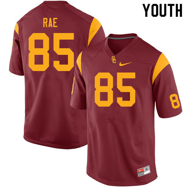 Youth #85 Ethan Rae USC Trojans College Football Jerseys Sale-Cardinal