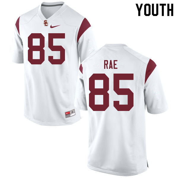 Youth #85 Ethan Rae USC Trojans College Football Jerseys Sale-White