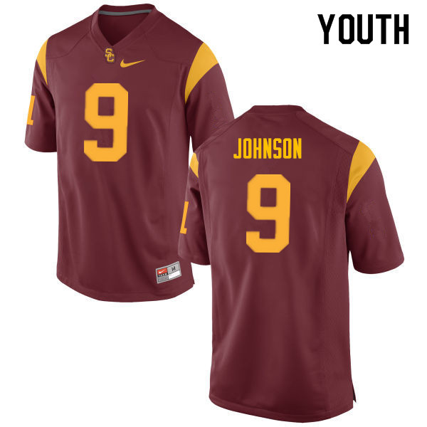 Youth #9 Greg Johnson USC Trojans College Football Jerseys Sale-Cardinal